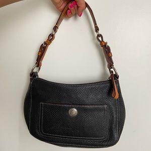Coach Genuine Leather Handbag Black